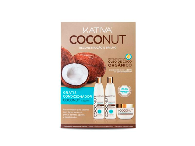 kativa coconut pack(conditioner free)