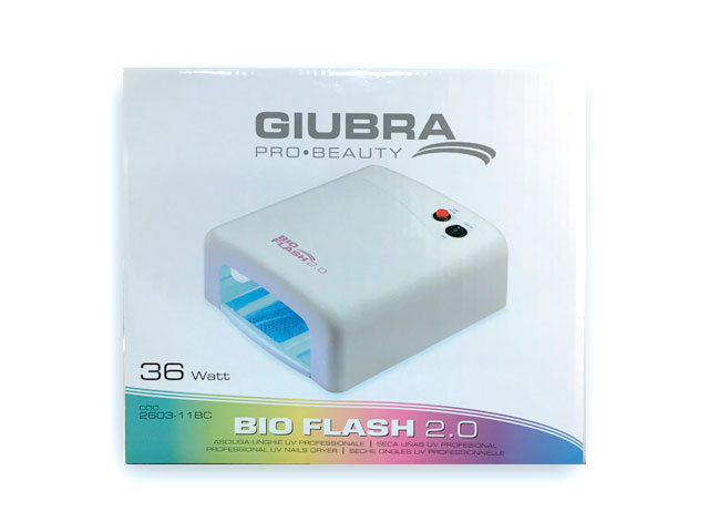 lampara uñas flash 2.0 blanca 36w temporizador