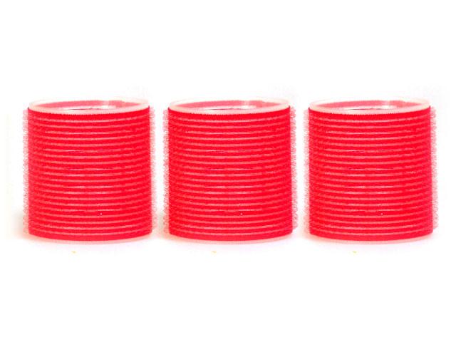 rulos rojos adherentes 60mm 3 uunidades