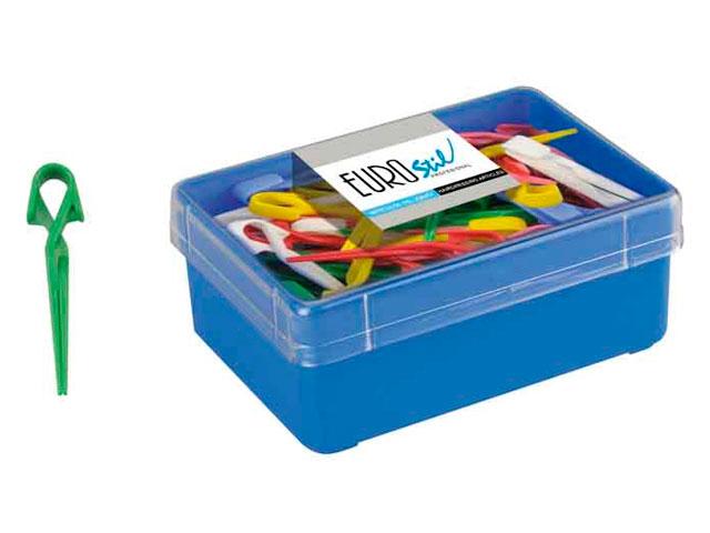 pinza plastico pequeña caja 5 docenas