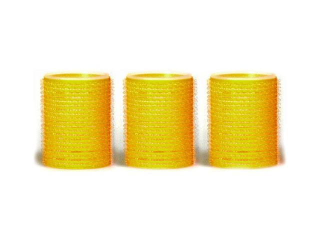 bucles amarillo 48mm adherentes bolsa 3 uds