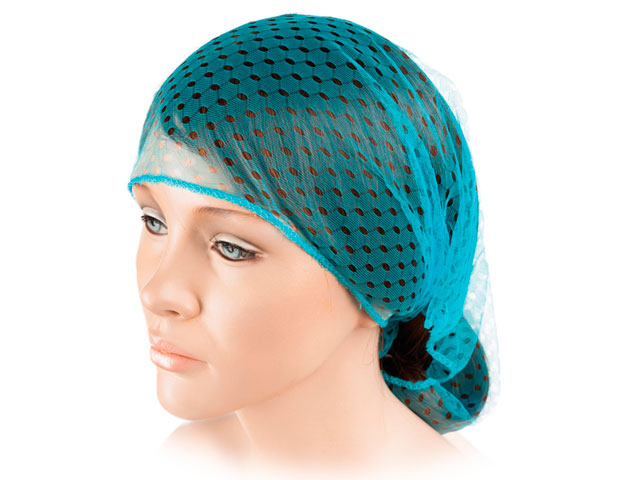 red secador triangula calada ribete azul turquesa