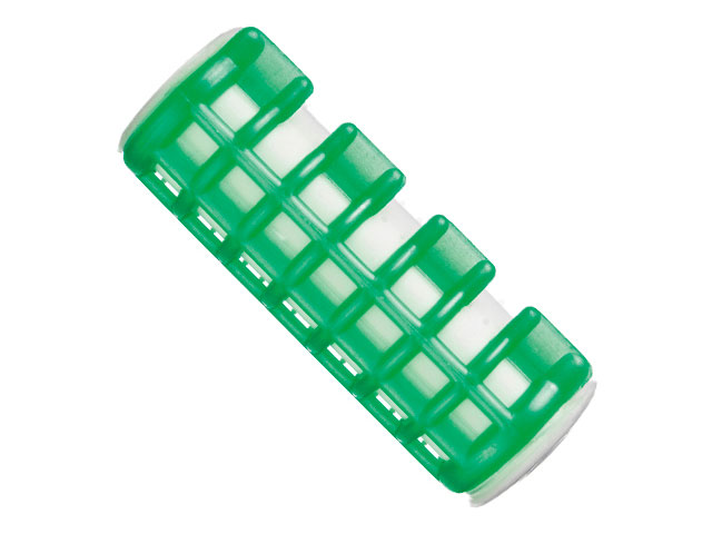 rulos calientes med.20mm verde*6