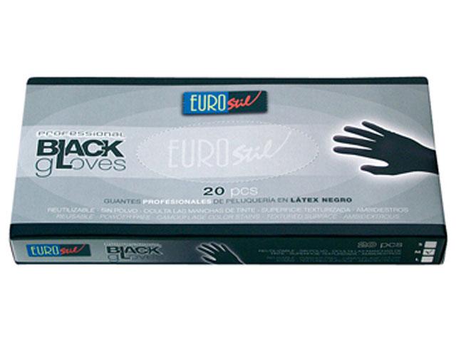 guantes latex*20 negros t/peq