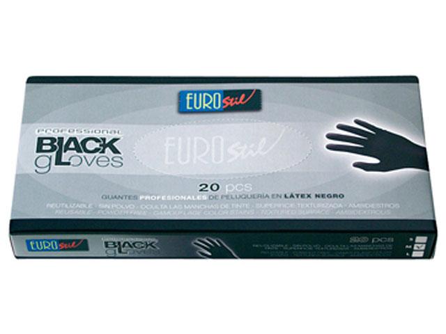 guantes latex*20 negros t/m
