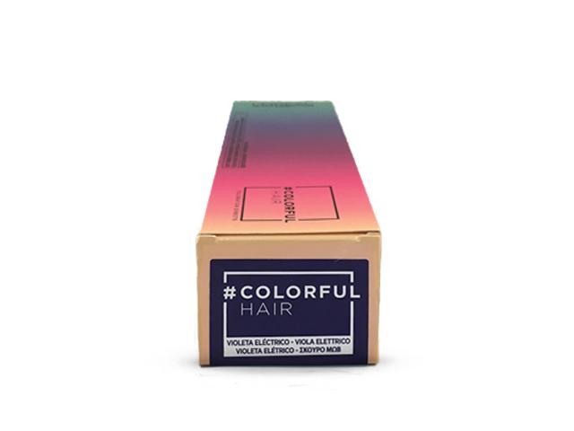colorful hair violeta electrico