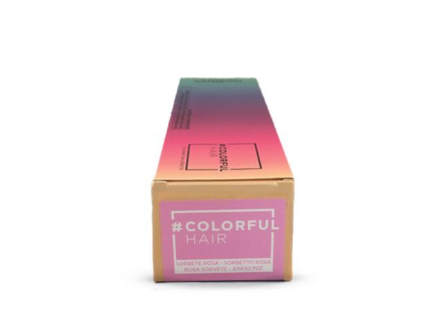 colorful hair sorbete rosa