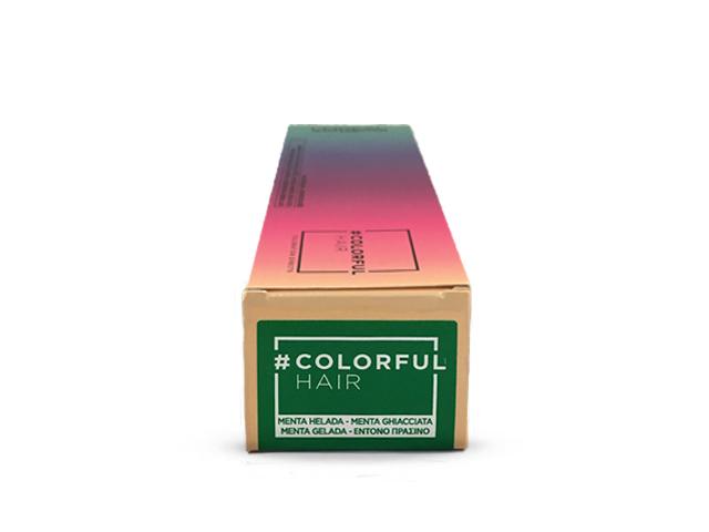 colorful hair menta helada