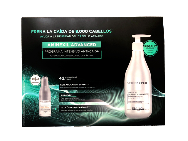 aminexil advanced 42*6ml+champu otoño`18