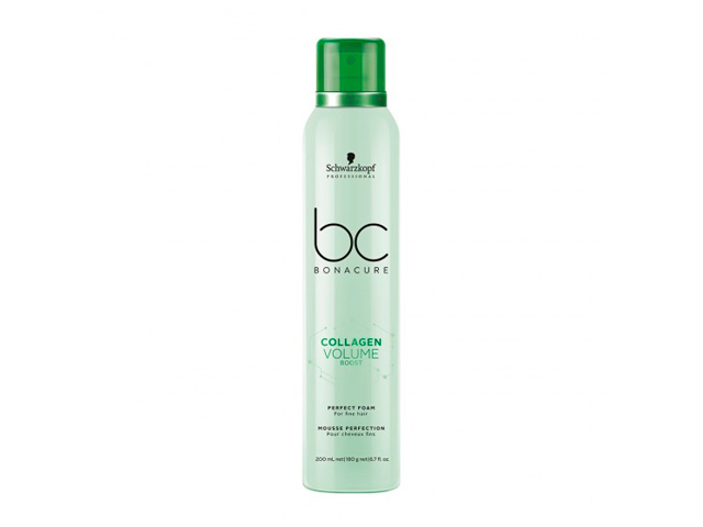 bc collagen volume espuma perfecta 200ml(cabelloNORMAL A FINO)