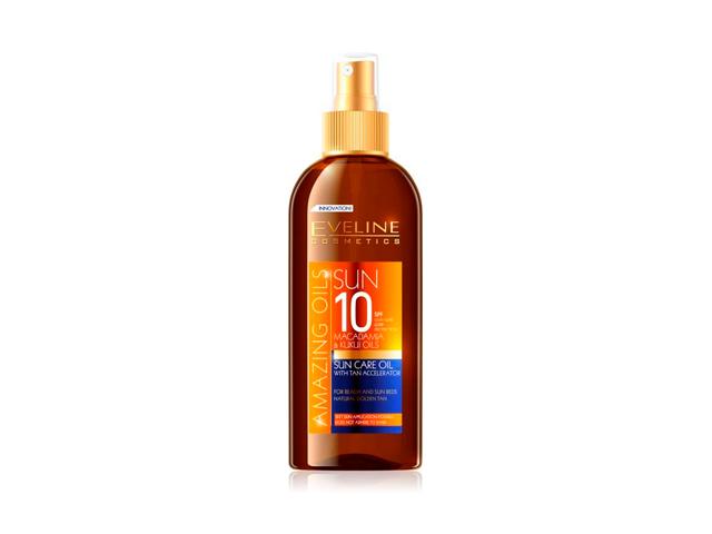 Eveline sun aceite spf10  150 ml (acelerador del bronceado)