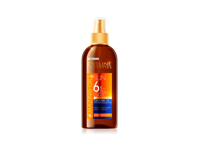 eveline sun aceite spf6(acelerador bronceado)150ml