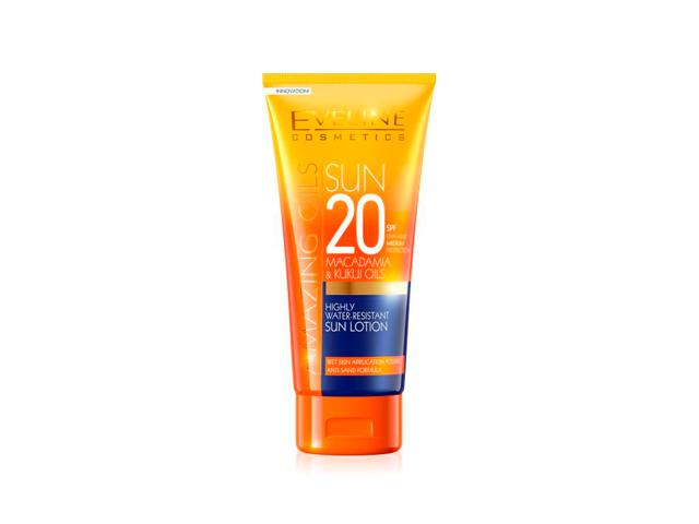 eveline sun locion spf20 resistente al agua 200ml