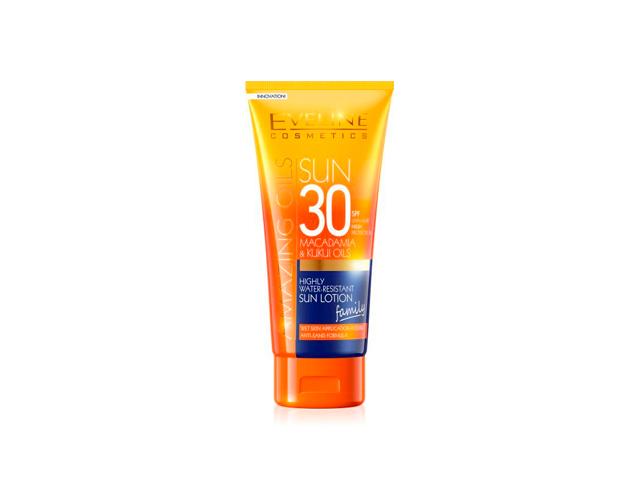 eveline sun locion spf30 resistente al agua 200ml