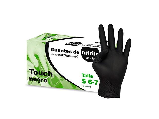 guantes de nitrilo m 7-8 negro