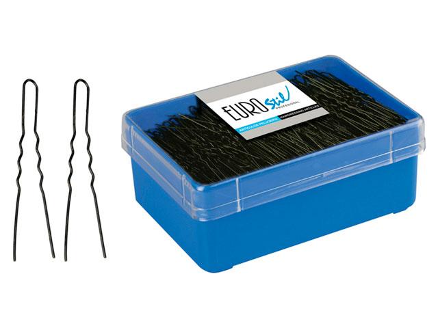 horquilla invisible negra caja 400 uds