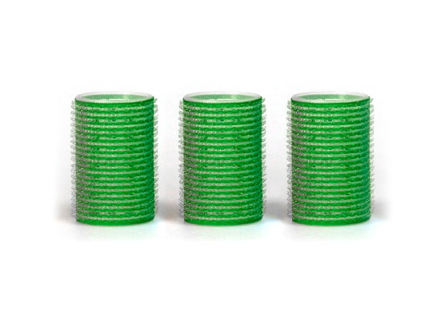 rulos superadhedentes 3 uds 40 mm verdes