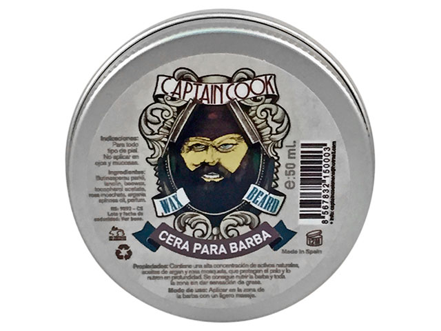 cera de barba 50ml captain
