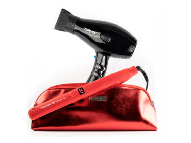 pack plancha termix 230� passion red + secador