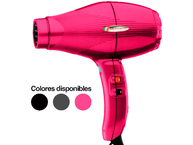 secador gam.p.e-tc light rosa