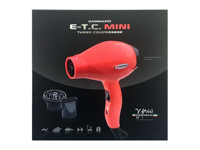 secador gam.p.etc mini rojo