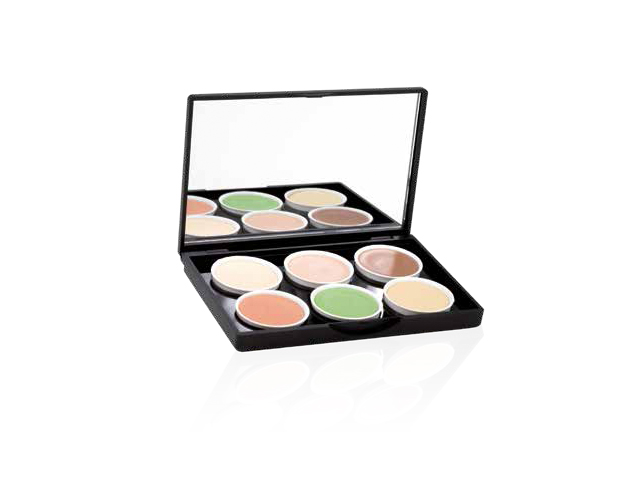 make up palette small 6colores concealer